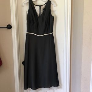New tea length black and white dress